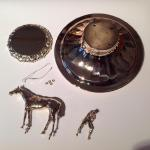 Parts to Lid of a Kentucky Derby Trophy Repaired by Dennis Meade