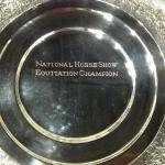 National Horse Show Equitation Champion Trophy Hand Engraved by Dennis Meade