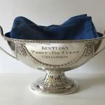 Kentucky Three-Day Event Trophy, Silver-plated brass and engraved by Dennis Meade